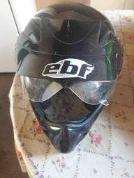 Capacete Ebf Cross preto