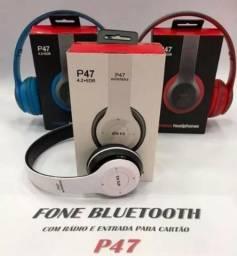 Fone De Ouvido Esportes Bluetooth Com Microfone Estéreo Fm