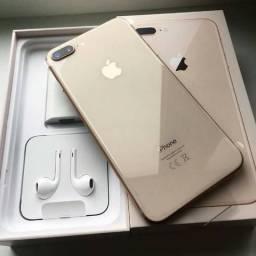 Iphone 8 plus com biometria, primeira linha premium 32gb