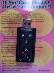 Usb virtual7.1 channel sound adapter