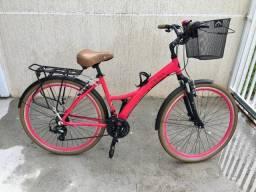 Bike Feminina Tito Urban ID 21 Marchas Shimano - Baixou o Preço
