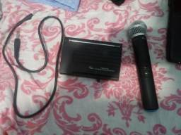 Microfone dinâmico sem fio