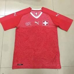 Camisa Oficial Nova Da Seleçao Da Suíça 2018/2019