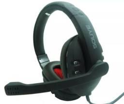 Headset Gamer USB Para Play 3 e Xbox