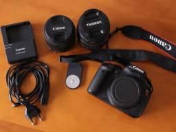 Câmara Canon EOS Rebel T5i + Lentes 18-55mm e 18-200mm