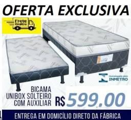 Peça Ja e Receba No Mesmo Dia Linda Cama Box Com Auxiliar Nova Com Otimo Preço 599,00
