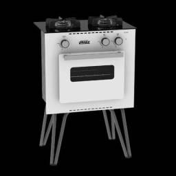 Fogão A Gás Portátil Mini Cook 2 bocas Com Forno Venax