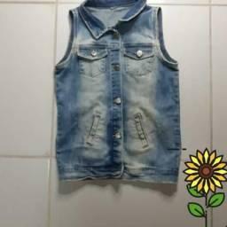 Colete jeans desbotado