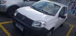 Fiat Uno Furgão flex gnv branca 2016