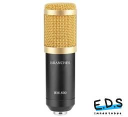Microfone Condensador BM800 Para Gravações em Estúdio