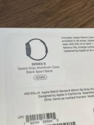 Apple Watch Serie 6 40mm preto (Space Gray) Lacrado na caixa com 1 ano de garantia