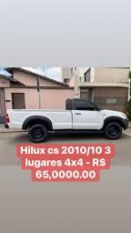 Hilux cs 2010 - 4x4 - diesel 2.5 3 lugares