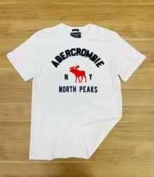 Camiseta Abercrombie Fitch algodão peruano tamanho  M