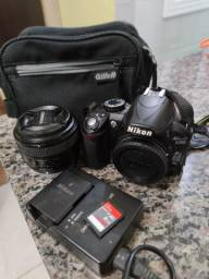 Profissional Nikon D3100 e lente 50mm