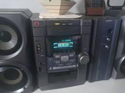 System sony mhc dx80 amplificador externo potente som lindo