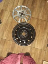 Vendo roda de ferro e calota siena 2014 aro 14