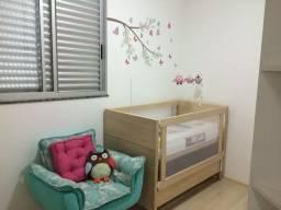 Berço de madeira mini cama cor carvalho / fit idea kids
