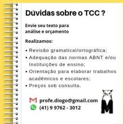 Revisão de TCC, formatação ABNT, trabalhos acadêmicos e escolares, aulas particulares