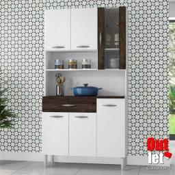 Kit Cozinha Golden 6 Portas Branco Petróleo NOVO