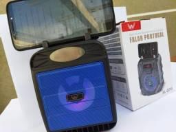 Mini Caixa De Som Bluetooth Portátil Preta/azul