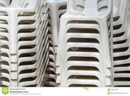 Cadeiras PVC - Encosto alto