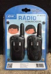 Promoção Rádio Comunicador Walkie Talkie, Alcance de até 5Kg, Novo, Entregamos