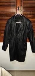 3/4 casaco em couro legitmo TEIXEIRA