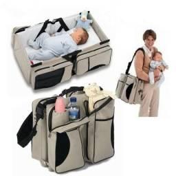 Bolsa Maternidade Berço Portátil Moises Bebê 3 Em 1