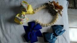 Laços e tiara