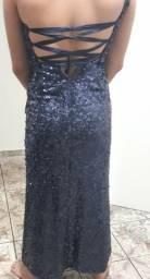 Vendo vestido de festa azul marinho