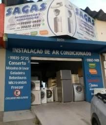 Conserto de máquina de lavar roupas, geladeiras, freezer, ar condicionado.