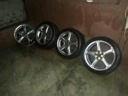Vendo ou troco roda 17 5 furo