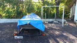 Vendo barco 5 metros metalglass + motor mercury 15 super + carreta tudo 100% - 2012