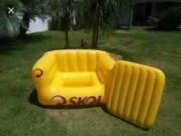 Sofa Cooler Inflável da Skol