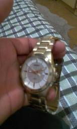 Vendo relógio marca orient foliado a ouro 350$