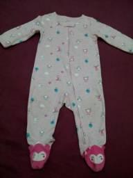 Pijama macacão Carters tam 6 a 9 meses