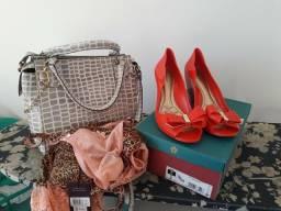Kit bolsa+sapato+camisola