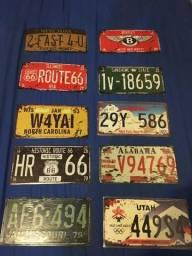 Placas Decorativas Metal carros Estados Unidos