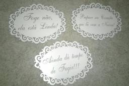 Placas para casamento (daminha e pajem)