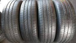 Quatro pneus 205/65/15 continental semi novo