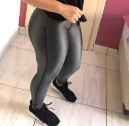 Calça mulher elástica com zíper na lateral