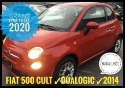 Fiat 500 1.4 Cult Aut 4p 2014 - Super Completo - 66.500 km! - 2014