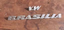 Emblema vw Brasília em aluninio