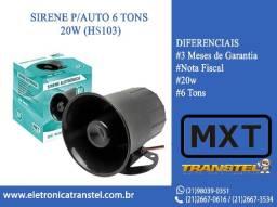 Sirene Eletrônica 6 Tons Mxt
