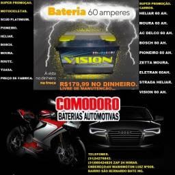 Eletran Vision Real Zetta Moura Heliar Bosch Pioneiro bateria 60 ah a preço de fabrica