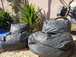 Puffs sofá para área externa