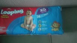 Fralda infantil pacote mega 108 unidades