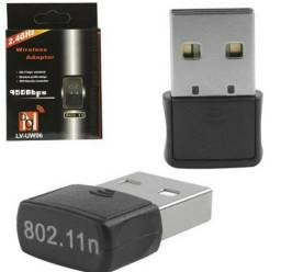 Mini Adaptador Receptor Wireless 2.4 GHz Wi-FI 950 Mbps USB PC Desktop Notebook