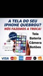 Bateria Câmera Tela para iPhone instalada na hora!
