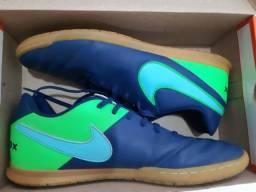 Chuteira Couro Nike Tiempox Rio III Azul/Verde